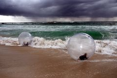 Beach bubble / Strandblasen
