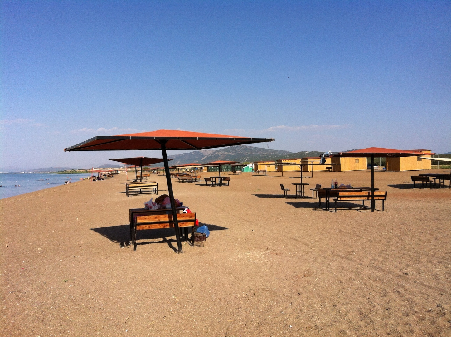 Beach in Beysehir lake