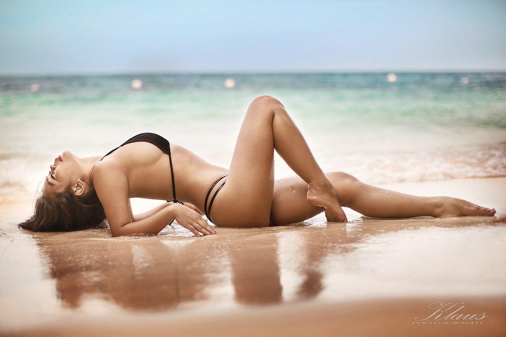 Beach pose