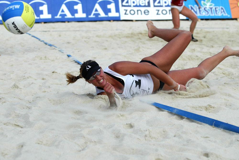 Beachvolleyball Gmunden Finale 24.07.2005