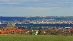 """Beaonderes """"Streifenlicht"""" über Dresden, wie ich es mal nennen will..."""