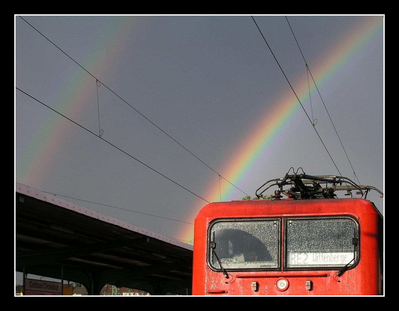 """""""Bearbeiteter"""" Regenbogen"""