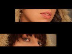 Beautiful eyes and lips