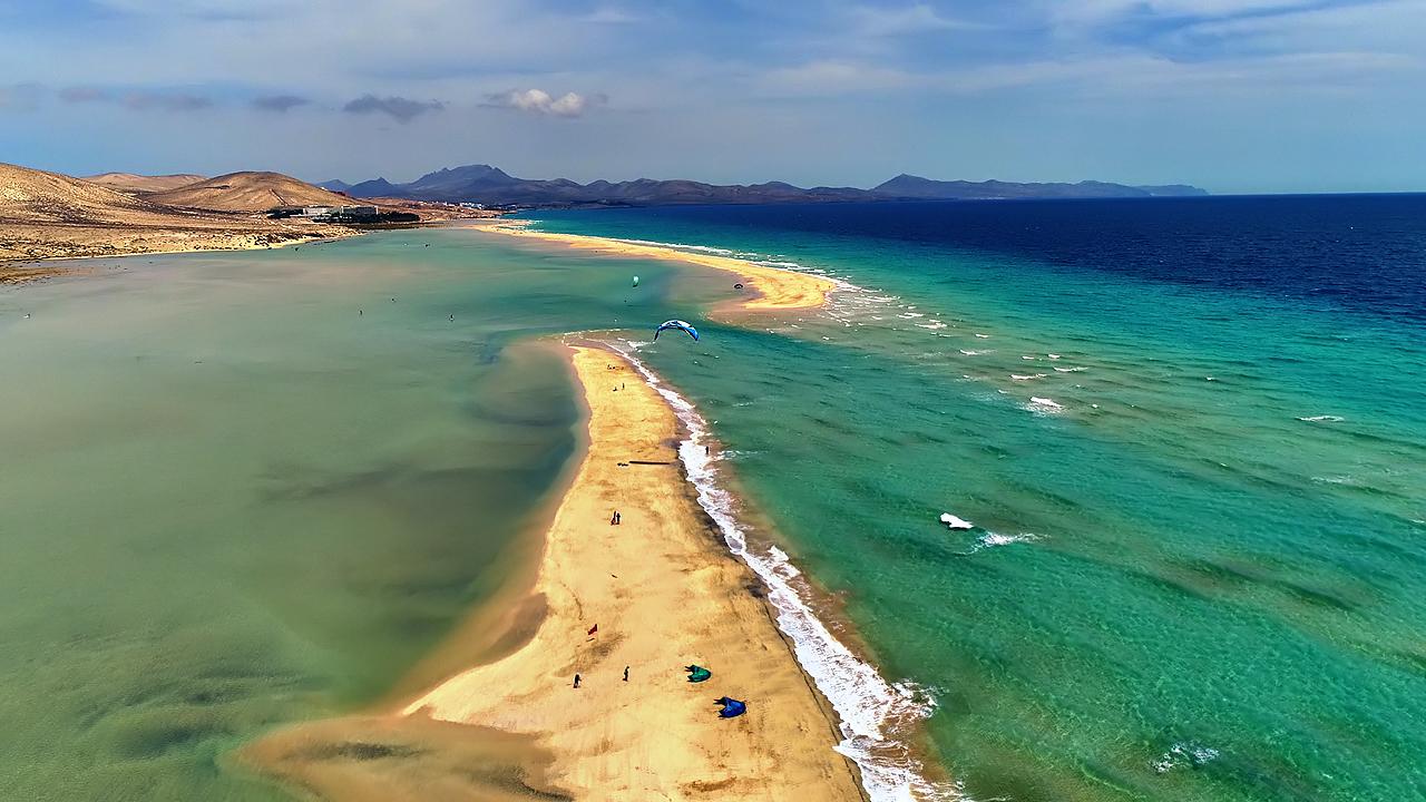 Beautiful Fuerteventura (Canary Islands) AERIAL DRONE 4K VIDEO