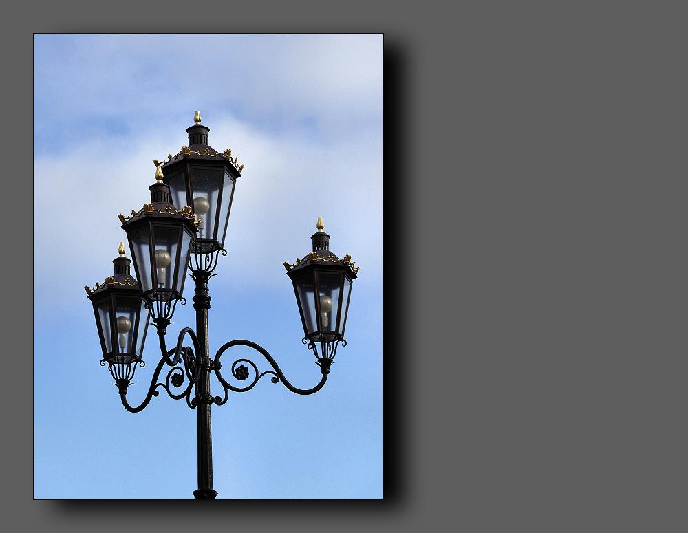 Beautiful old lantern in Sneek