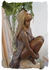 Beautiful Young Lady in Bronze