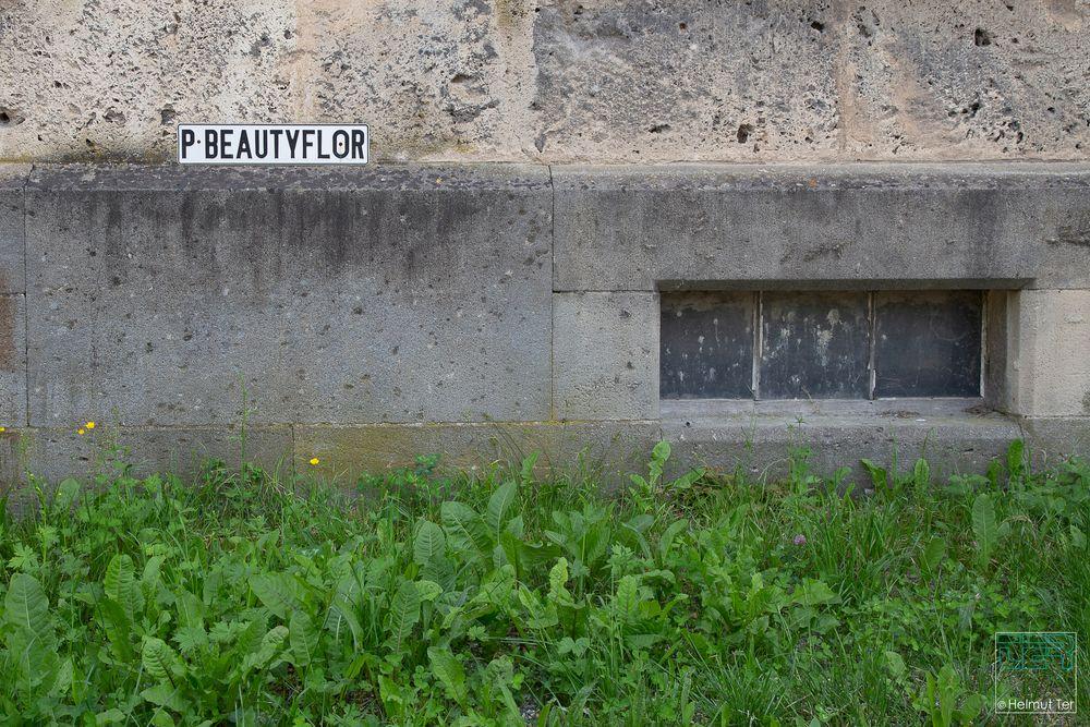 Beauty? - Aber das P-Schild strahlt Schönheit aus.