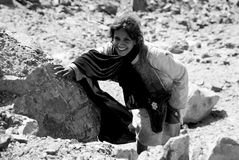 Bedouinen-Mädchen in der Wüste Sinai, Ägypten