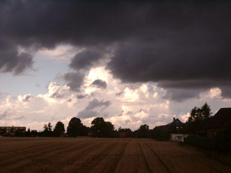 Bedrohliche Wolken