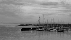 Bedrückende Stimmung am Hafen von Rantum