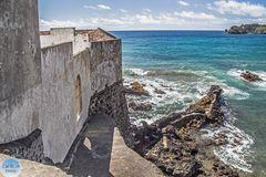 Befestigung und Strand Corpo Santo Vila Franca do Campo