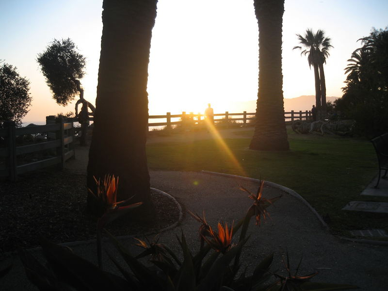 before sunset in santa monica