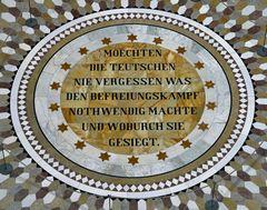 Befreiungshalle Kelheim - Bodeninschrift
