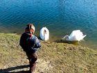 Begegnung am See