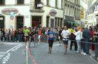 Begegnung des Marathon und Semi