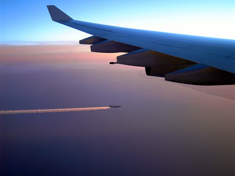 ...Begegnung in der Luft...