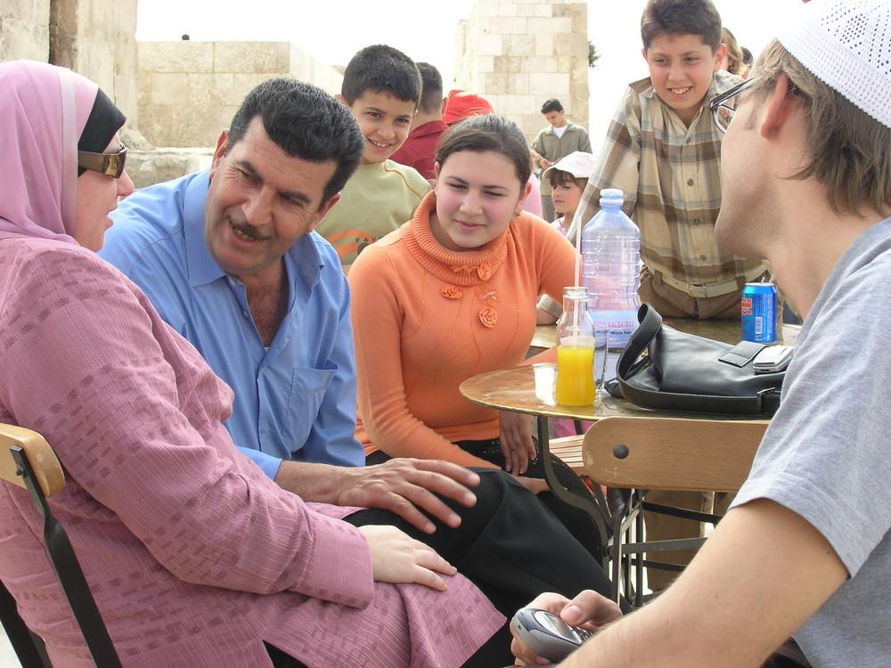 begegnung syrien aleppo familie zitadelle
