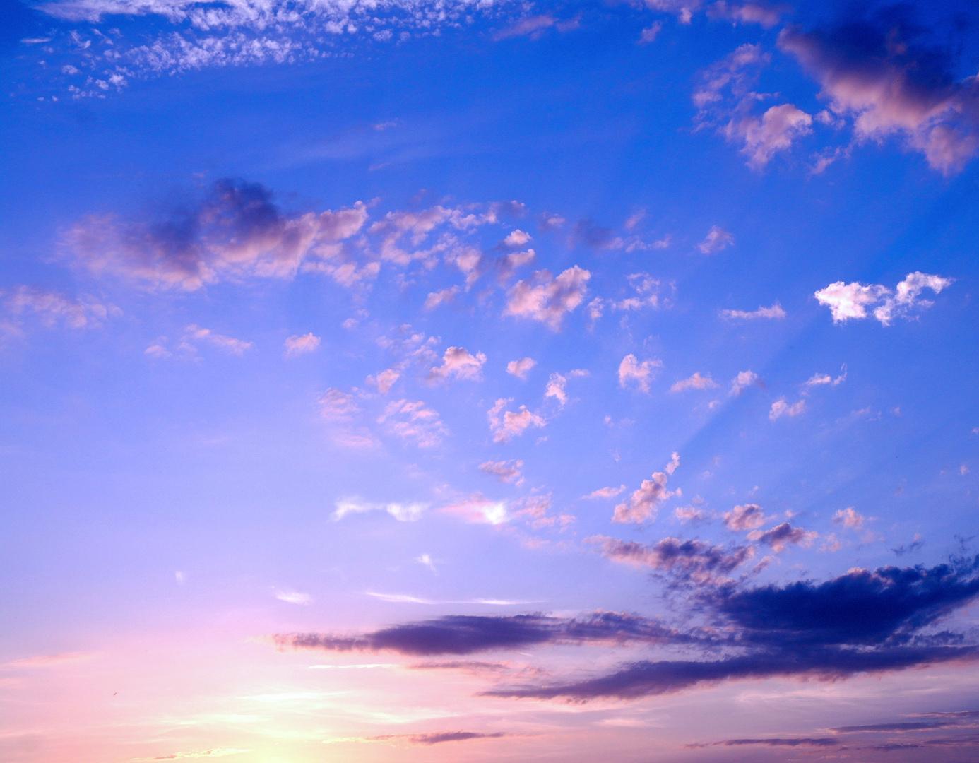 Beginnender Sonnenuntergang Rügen