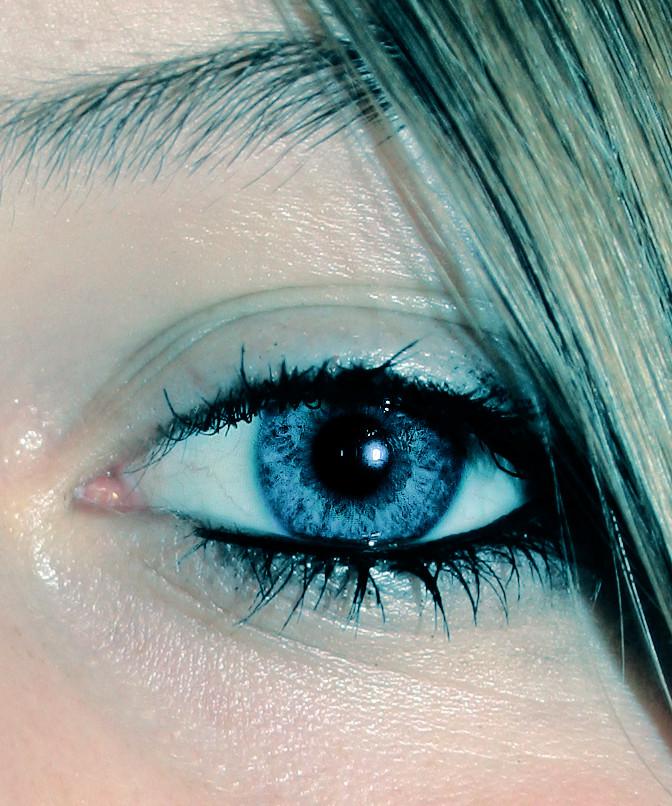 Behind blue eyes.