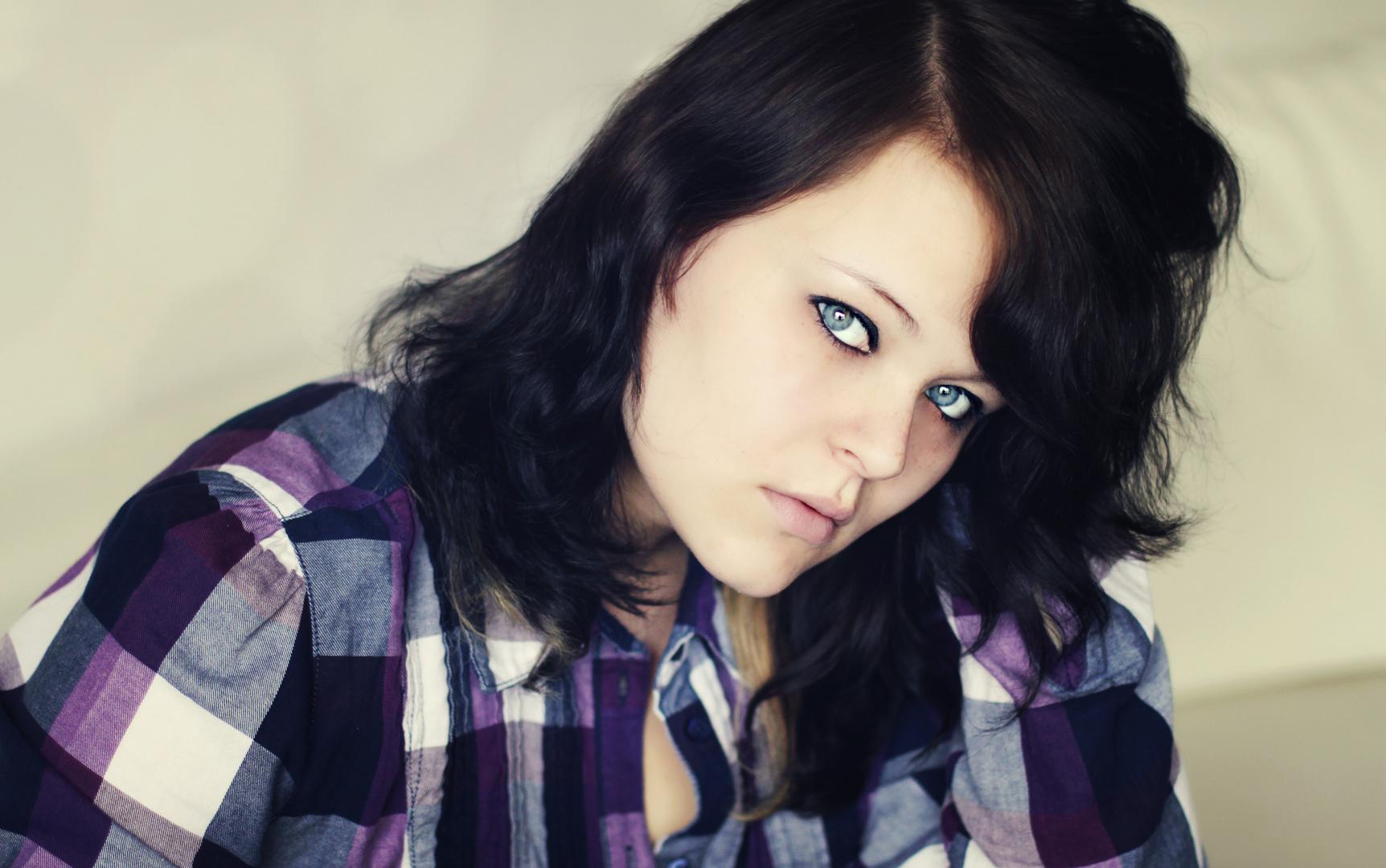 ...behind blue eyes