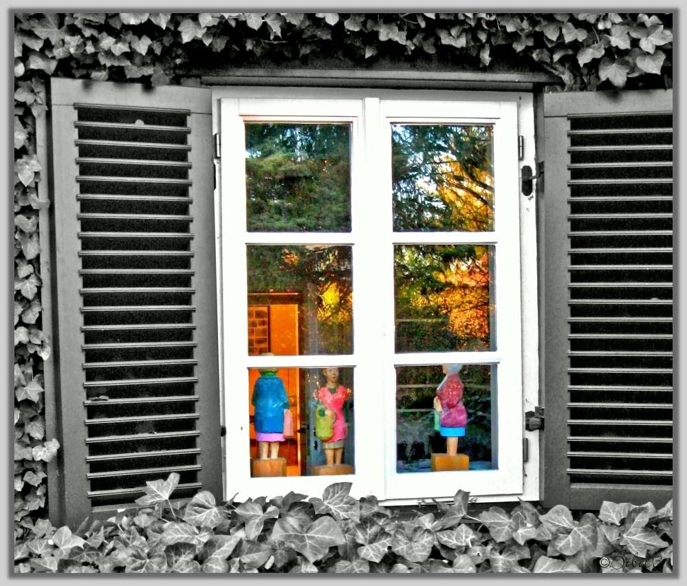 Behind closed windows!