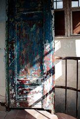 behind the blue door ...