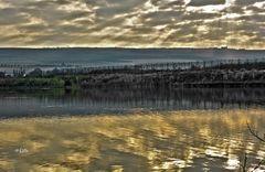 Bei angeln in den frühen Morgenstunden
