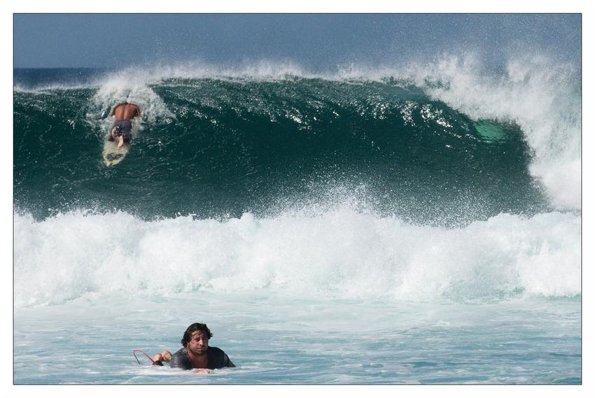 Bei den Haltungsnoten wird dieser Surfer nicht die Maximalpunktzahl erreichen