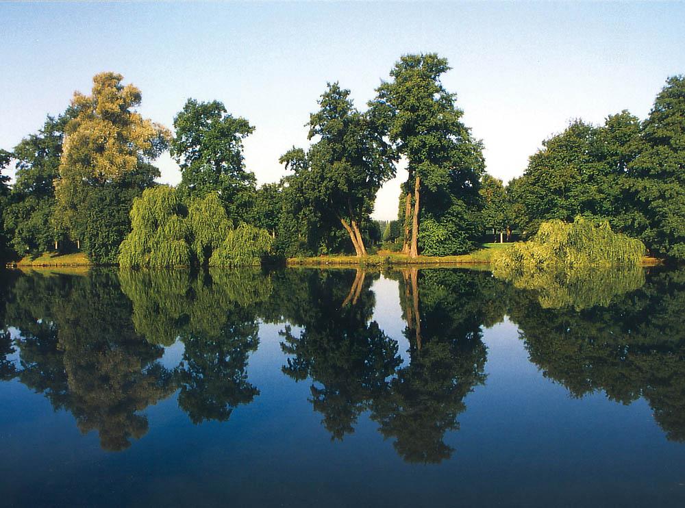 Bei den Herrenhäuser Gärten in Hannover