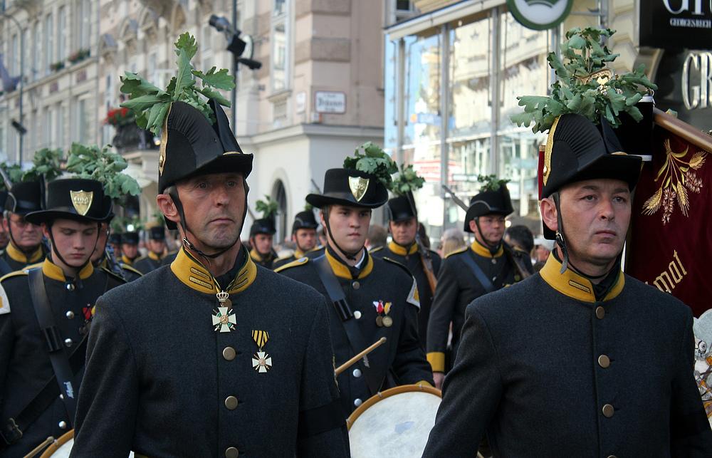 Bei den Trauerfeierlichkeiten für Otto Habsburg
