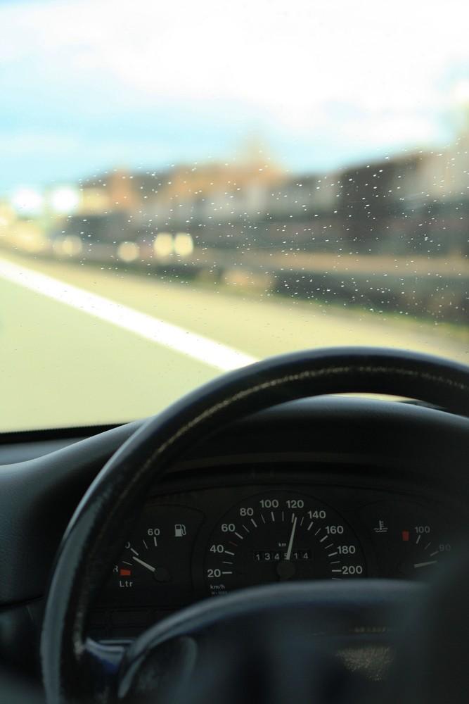 bei der Autofahrt