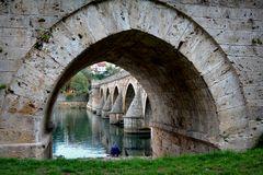 Bei der Brücke über die Drina