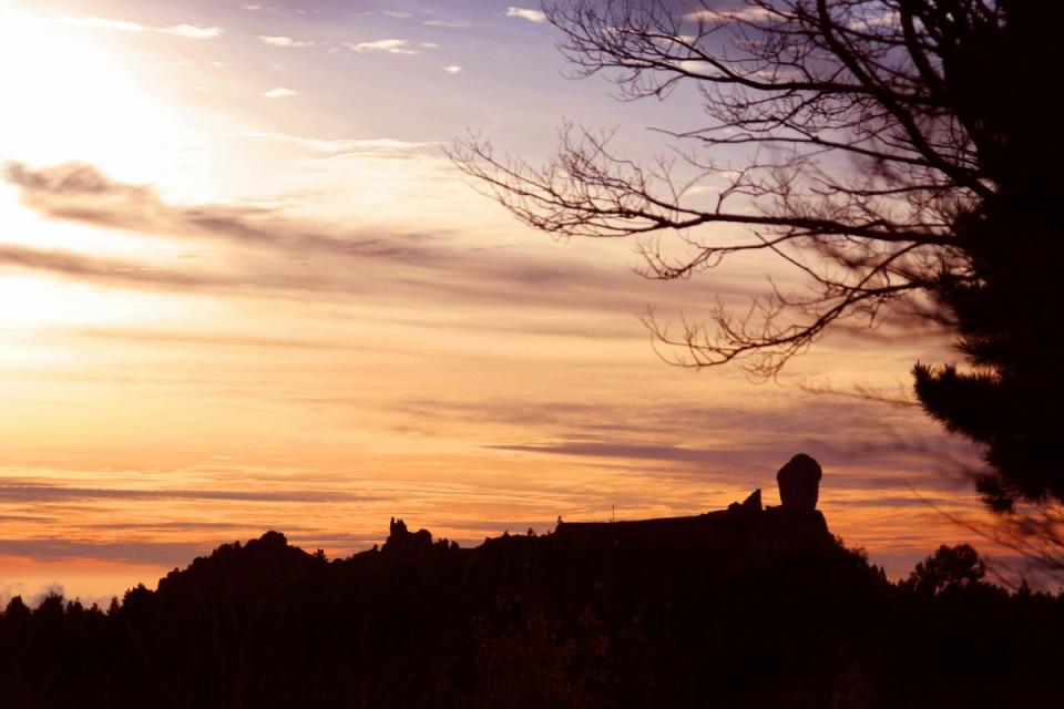 Bei der Roque Nublo am Sonnuntergang