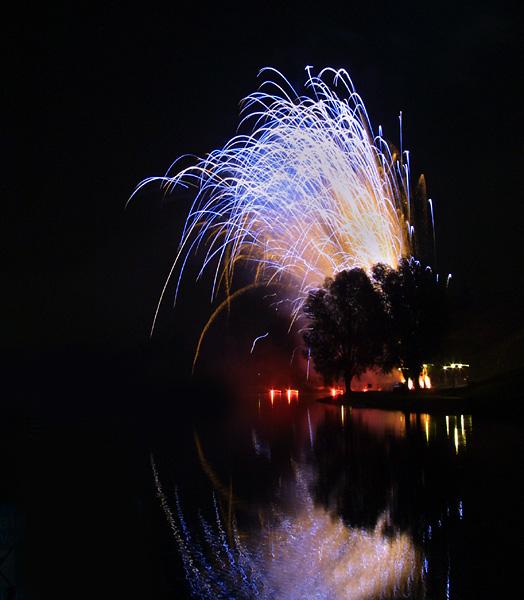Bei einen Feuerwerk mit eine Digi..