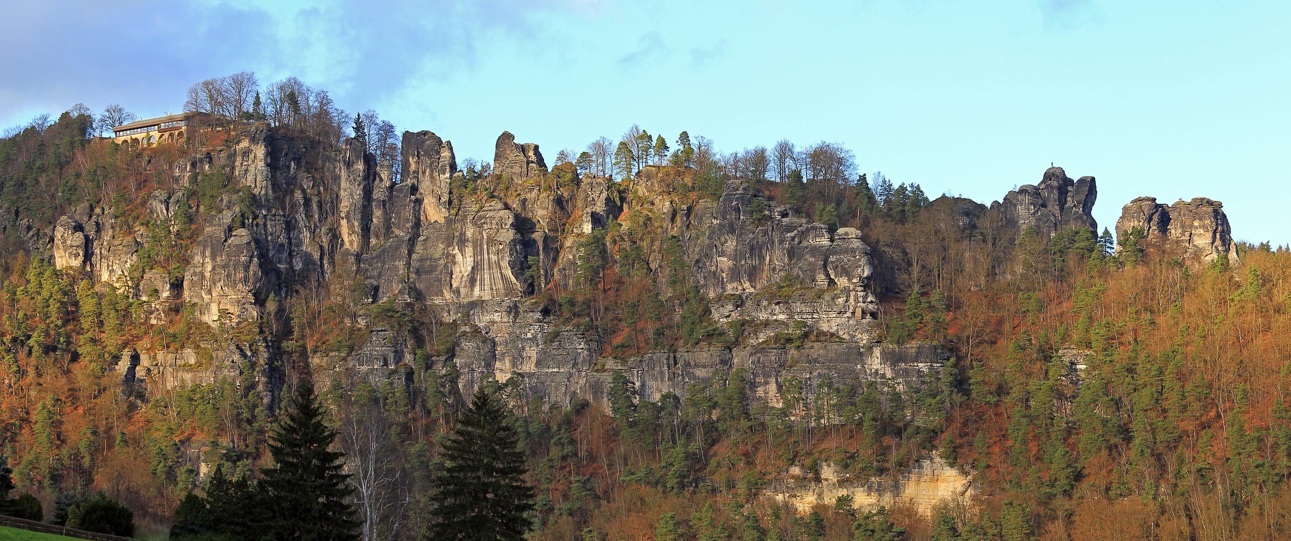 bei herrlicher tiefer Dezembersonne war ich am 08 12. nach dem Mittag in Rathen fast  allein...