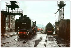 Bei jeden Wetter immer im Dienst Loks und Eisenbahner