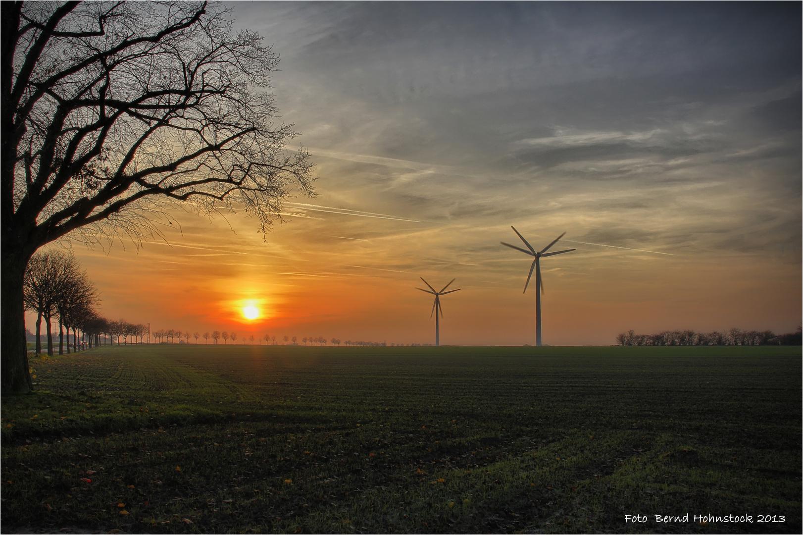 bei uns am linken Niederrhein .....
