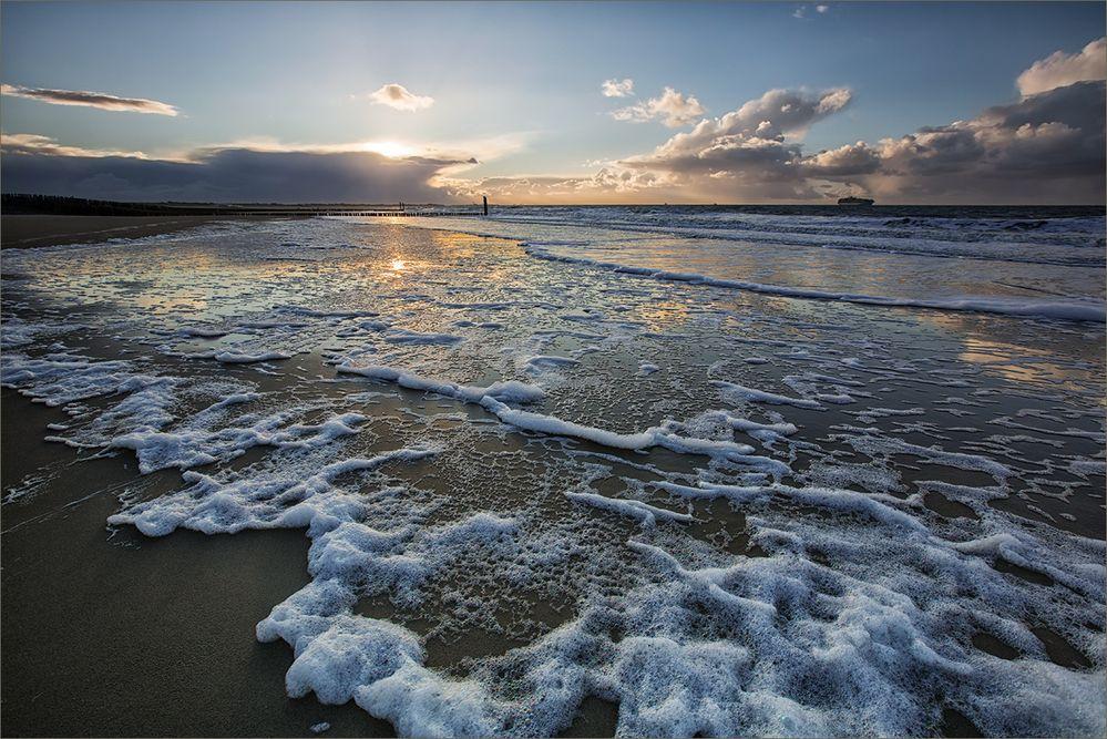 Bei Wind und Wetter am Meer