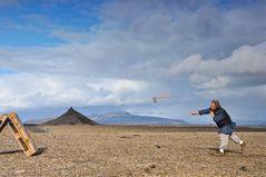 Beilweitwerfen - ein alter Brauch der Isländer oder Wikinger