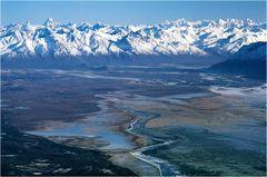Beim Anflug auf Anchorage
