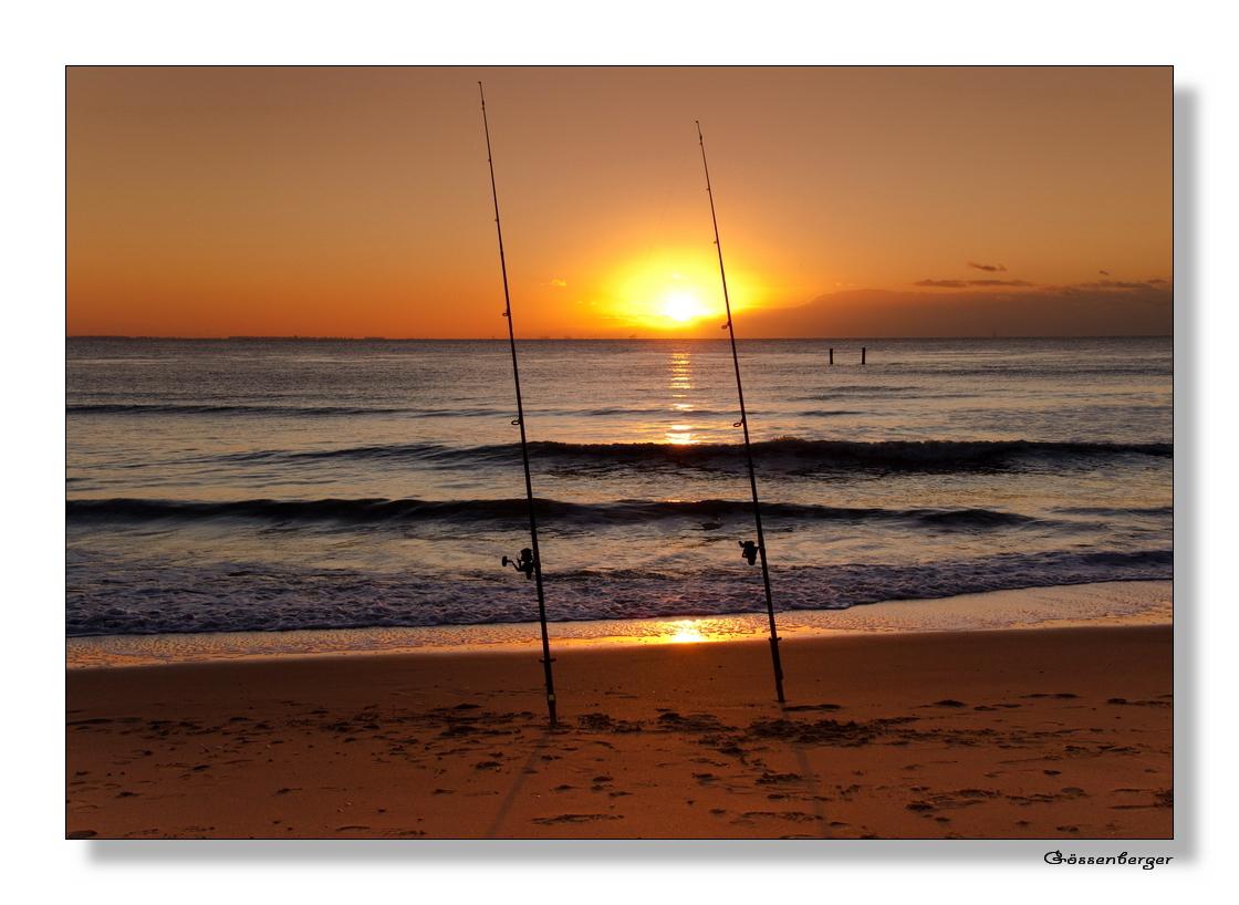 beim angeln...