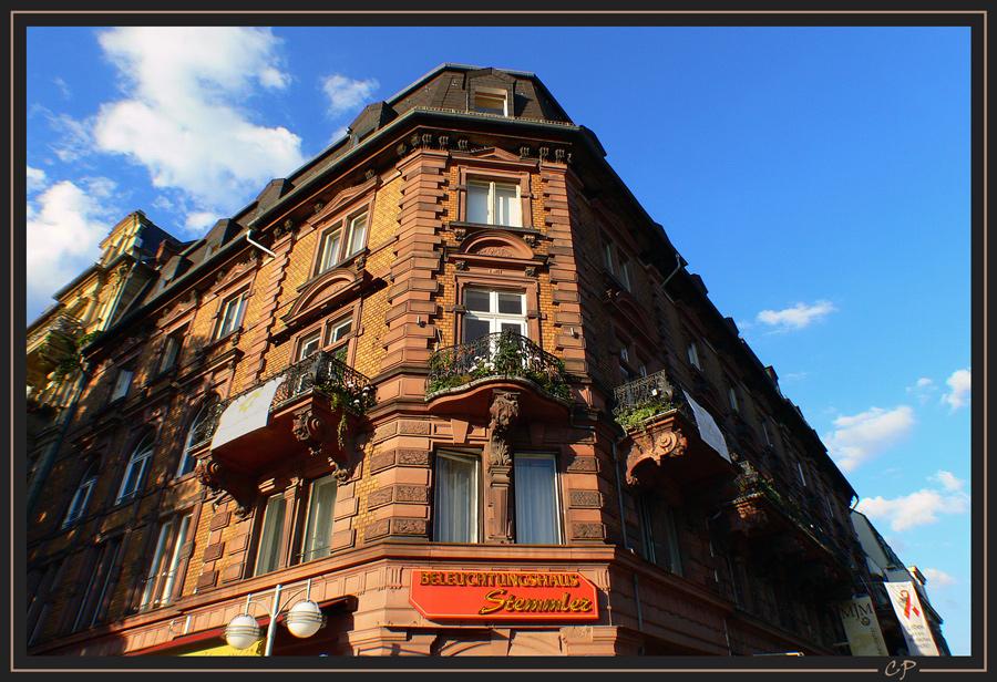 Beim Bummel durch Wiesbaden ...