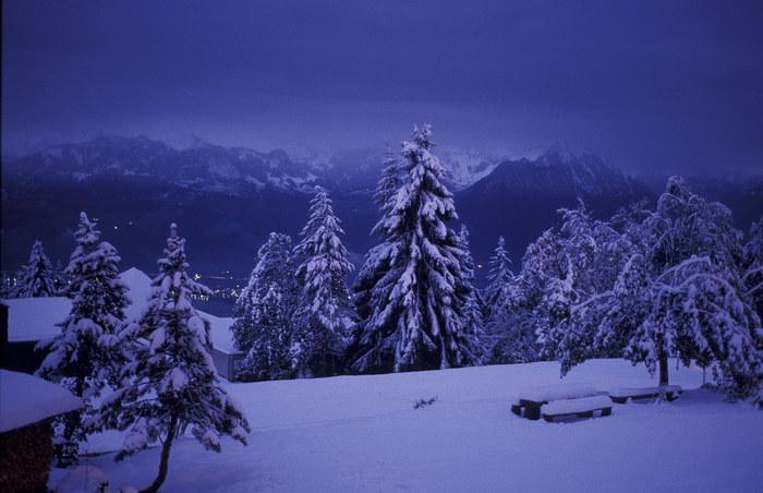 beim eindunkeln im Winter
