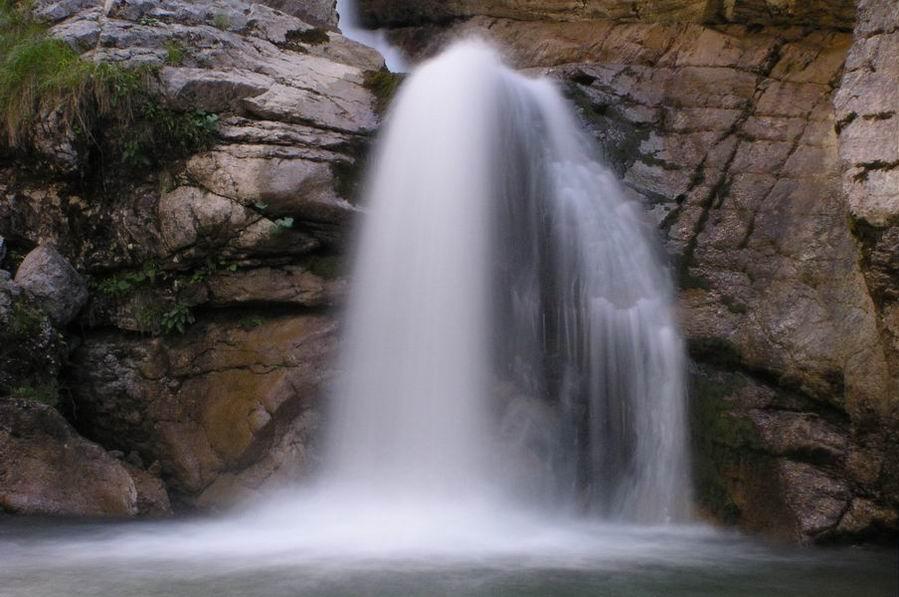 beim Kuhflucht-Wasserfall bei Garmisch
