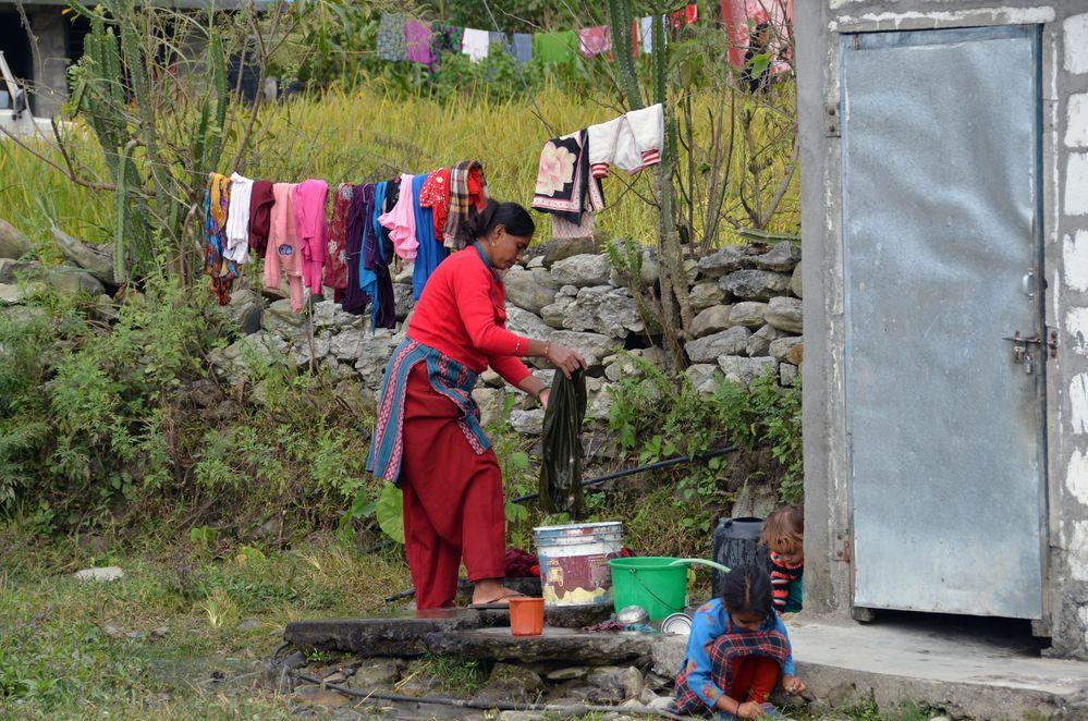 Beim Waschen