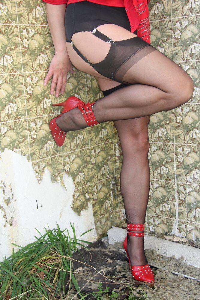 Geile beine in strumpfhosen