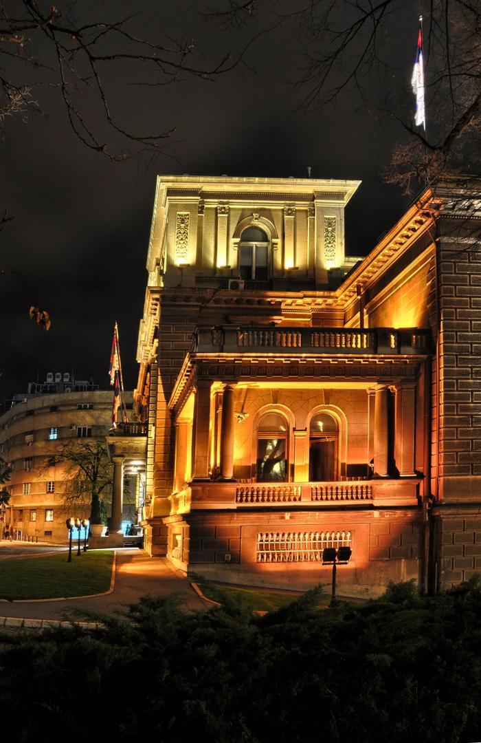 Belgrade in night details 01