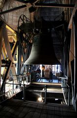 bell in a tower from dom in cologne