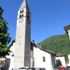 Bell tower in the midlle of the Alpi