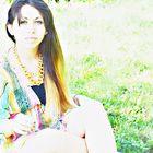 Bella en el parque.